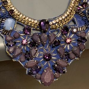 Beautiful blue and purple statement necklace